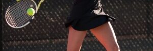 Playing in tennis