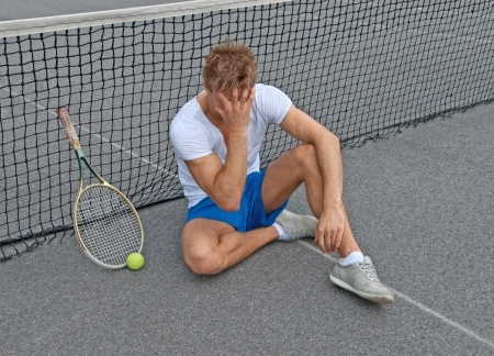 Tennis Player Who Lost a Match